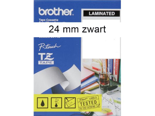 Labeltape Brother P-touch TZE251 24mm zwart op wit