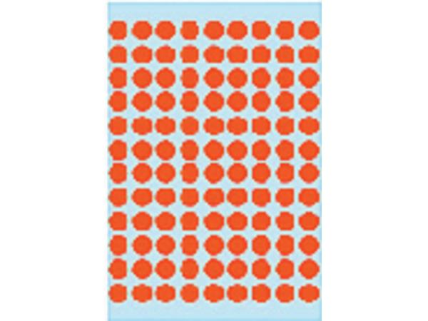 Etiket Herma 1842 rond 8mm rood 540stuks
