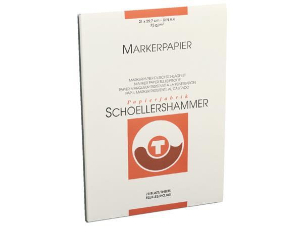 Markerblok Schoellershammer A4 75gr wit