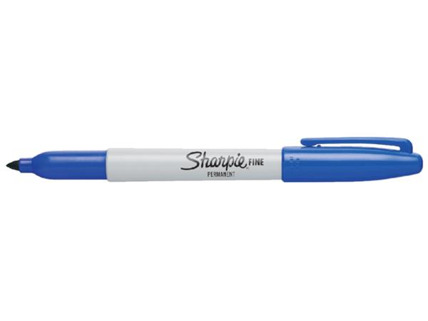 Viltstift Sharpie Fine rond blauw 1-2mm
