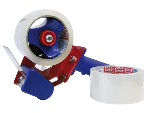 Handdozensluiter Tesa met 2rol 50mmx66m transparant