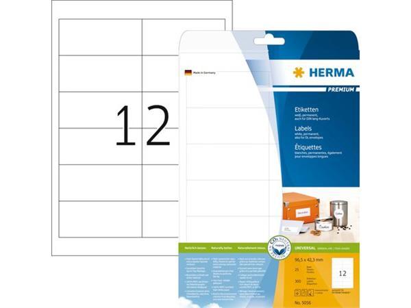 ETIKET HERMA 5056 96.5X42.3MM PREMIUM A4 300ST