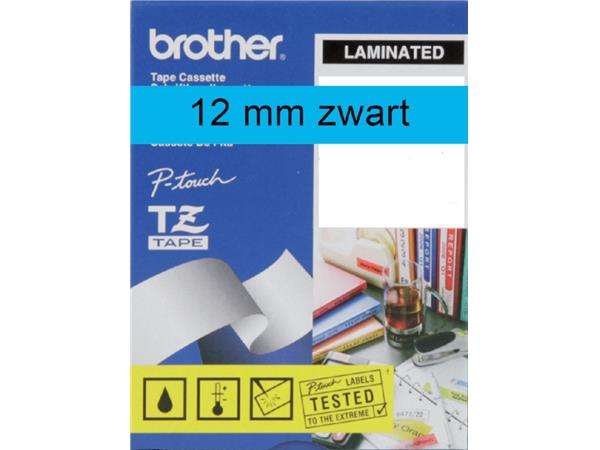 Labeltape Brother P-touch TZE-531 12mm zwart op blauw