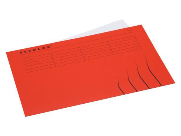 Vouwmap Jalema Secolor Folio gelijk rood