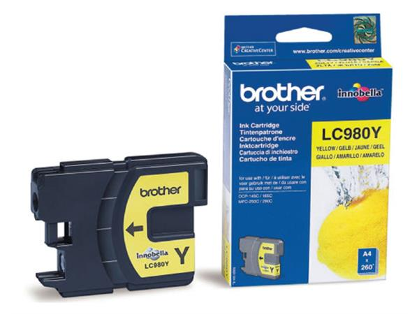 Inkcartridge Brother LC-980Y geel